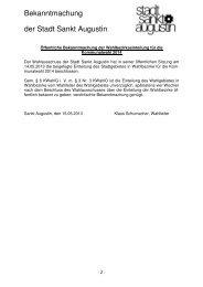 Öffentliche Bekanntmachung der Wahlbezirkseinteilung für die ...