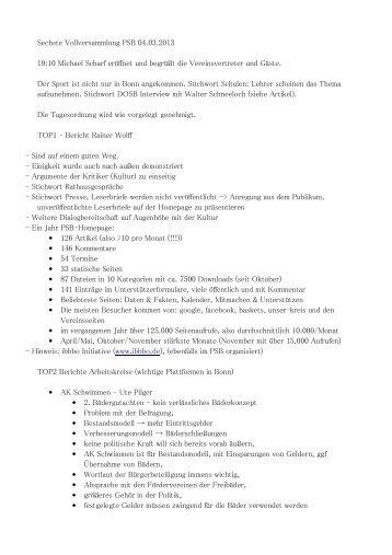 Protokoll 6 Vollversammlung - BTHV