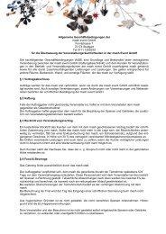 Allgemeine Geschäftsbedingungen der mash ... - mash™ Stuttgart