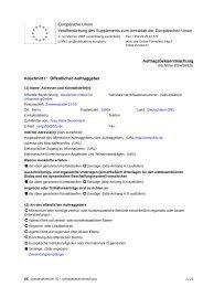 Auftragsbekanntmachung - Herstellung, Lieferung und ... - Difu