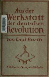 Aus der Werkstatt der deutschen Revolution