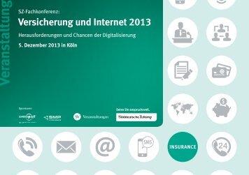 """SZ-Fachkonferenz """"Versicherung und Internet 2013"""" - smp AG"""