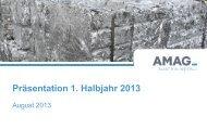Präsentation H1/2013 - Austria Metall AG