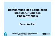Bestimmung des komplexen Moduls G* und des ... - FGSV