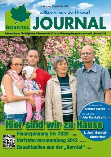 """journal - Erfurter Wohnungsbaugenossenschaft """"Borntal"""" eG"""