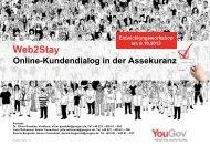 Web2Stay Online-Kundendialog in der Assekuranz - YouGov