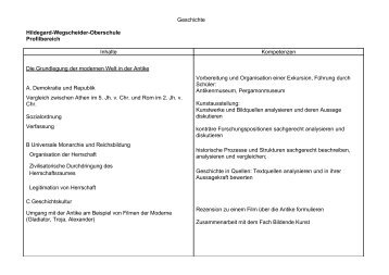 Sek II - Hildegard-Wegscheider-Oberschule