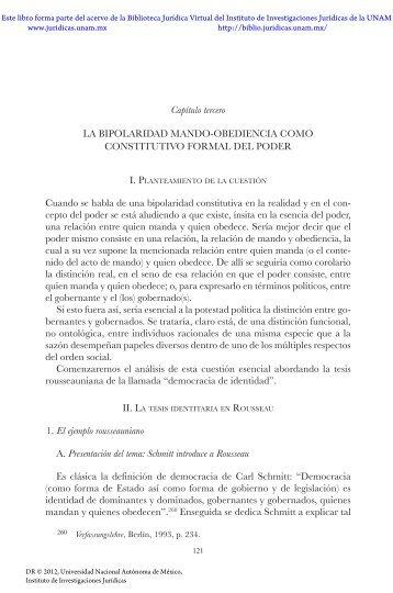 Capítulo tercero - Biblioteca Jurídica Virtual - UNAM