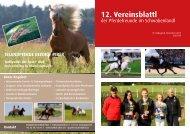 12. Vereinsblattl - Islandpferde Reithof Piber