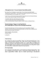 Teilergebnis des 3. Forums Soziale Geschäftsmodelle ... - Spendwerk