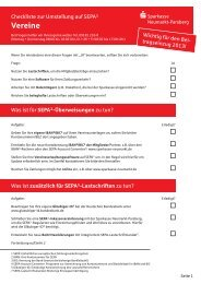 SEPA-Checkliste für Vereine - Sparkasse Neumarkt i d OPf-Parsberg