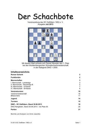 Der Schachbote 2013/07 - Schachclub Ostfildern 1952 eV