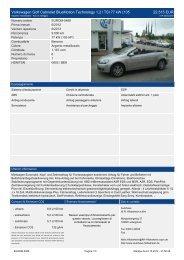 Volkswagen Golf V Tour Edition 1 4 l 8.960 EUR