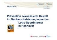 Prävention sexualisierter Gewalt im Leistungssport am Beispiel des ...