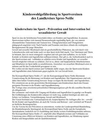 Kinderschutz im Sport und Vertrauenspersonen des Landkreis ...