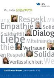Unfallkasse Hessen Jahresbericht 2012