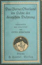 Das Berner Oberland im Lichte der deutschen Dichtung