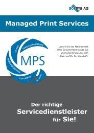 Managed Print Service - GOESYS AG