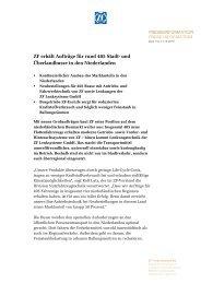 Pressetext herunterladen (PDF, 97 KB) - ZF Friedrichshafen AG