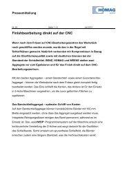 Finishbearbeitung direkt auf der CNC - HOMAG Group