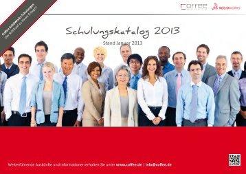 Schulungskatalog 2013 - Coffee GmbH
