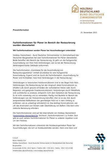 PR-Holzbau-D_ Fachinfo Planer Holz Holz Verbindung