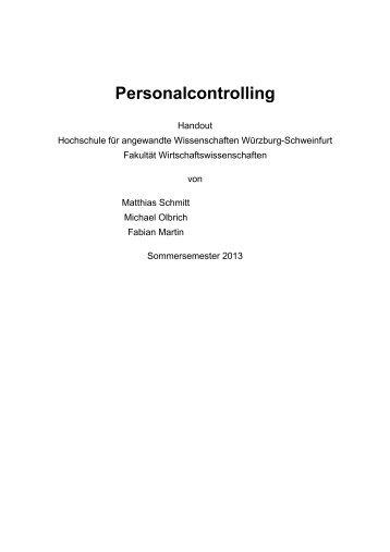 Personalcontrolling - Hochschule für angewandte Wissenschaften ...