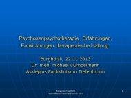 Vortrag Dr. med. M. Dümpelmann, Rosdorf, vom 22.11.2013