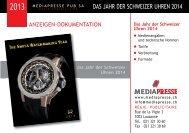 DaS Jahr Der SchWeizer Uhren - Mediapresse SA, Lausanne