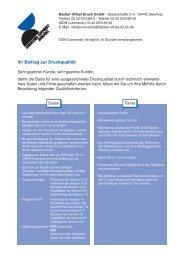 Ihr Beitrag zur Druckqualität - Decker Offset Druck GmbH