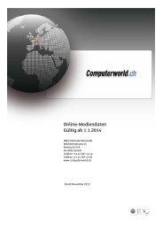 Online Mediadaten 2014 - IDG Communications