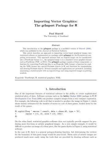 Importing Vector Graphics: The grImport Package for R