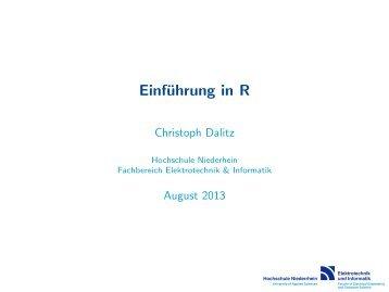Einführung in R - Hochschule Niederrhein