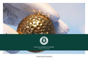 Werbeflächenbroschüre öffnen (PDF) - Golfclub Schloss Lütetsburg