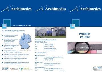 Druck | Design - Archimedes Facility-Management GmbH