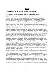 Taiwan and the Taiwan Stock Exchange
