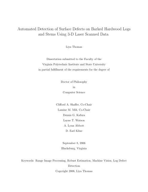 Automated Detection of Surface Defects on Barked Hardwood Logs ...