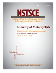 A Survey of Motorcyclists: Data for Research Design - Virginia Tech