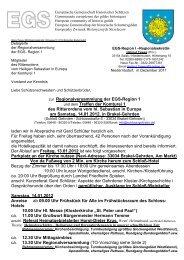 zur Regionalversammlung der EGS-Region 1 und dem Treffen der ...