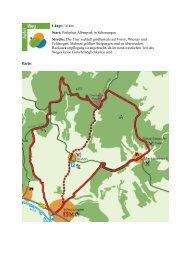 Länge: 18 km Start: Parkplatz Albanpark in Schonungen Strecke ...
