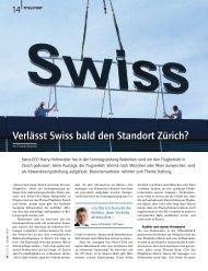 Verlässt Swiss bald den Standort Zürich? - Schweizer Touristik