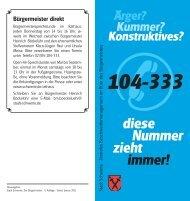 Informations-Flyer Beschwerdemanagement - Stadt.schwerte.de
