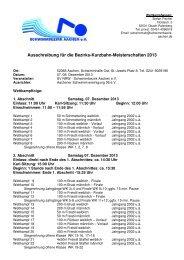 Ausschreibung BZM Kurzbahn 2013 - DSV
