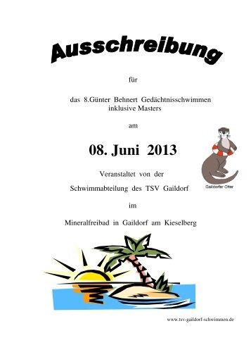 08. Juni 2013 - Schwimmen - DSV