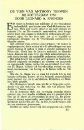 DE TUIN VAN ANTHONY TERWEN BIJ ROTTERDAM 1766 DOOR ...