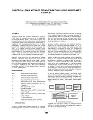 Numerical Simulation of Piping Vibrations Using an Updated FE Model