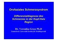 Orofaziales Schmerzsyndrom - Semmelweis Egyetem