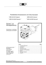 Pendelkolben-Kompressoren und Vakuumpumpen Betriebs ... - KNF