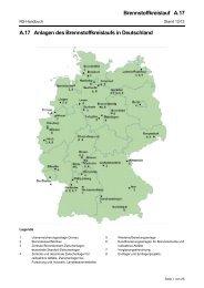 A.17 Anlagen des Brennstoffkreislaufs in Deutschland