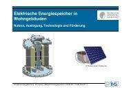 Elektrische Energiespeicher in Wohngebäuden